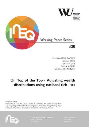Cover INEQ Working Paper #20