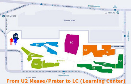 From U2 Messe/Prater to LC (Learning Center)