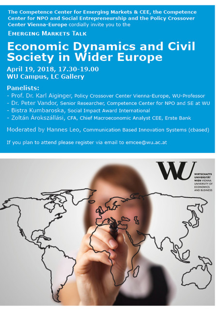 Economic dynamics and civil society in Wider Europe