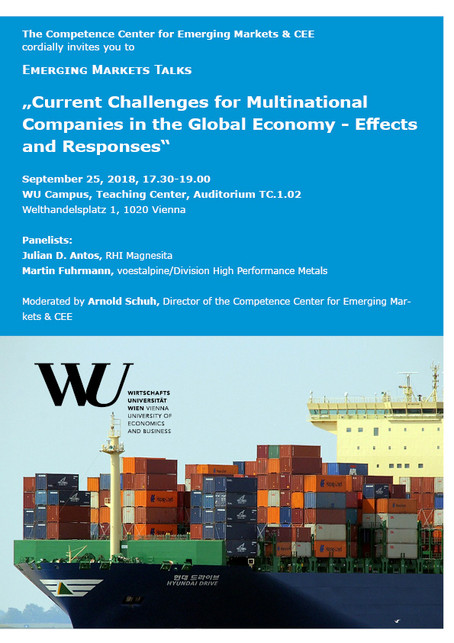 Current Challenges for Multinational Companies in the Global Economy - Effects and Responses