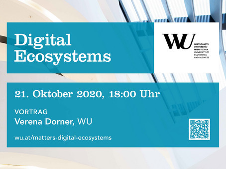 Plakat wu matters wu talks Digital ecosystems
