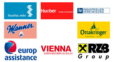 We proudly present our sponsors facultas.mbs, hueber, industriellenvereinigung, manner, ottakringer, europ assistance, vienna convention bureau, and rzb group.