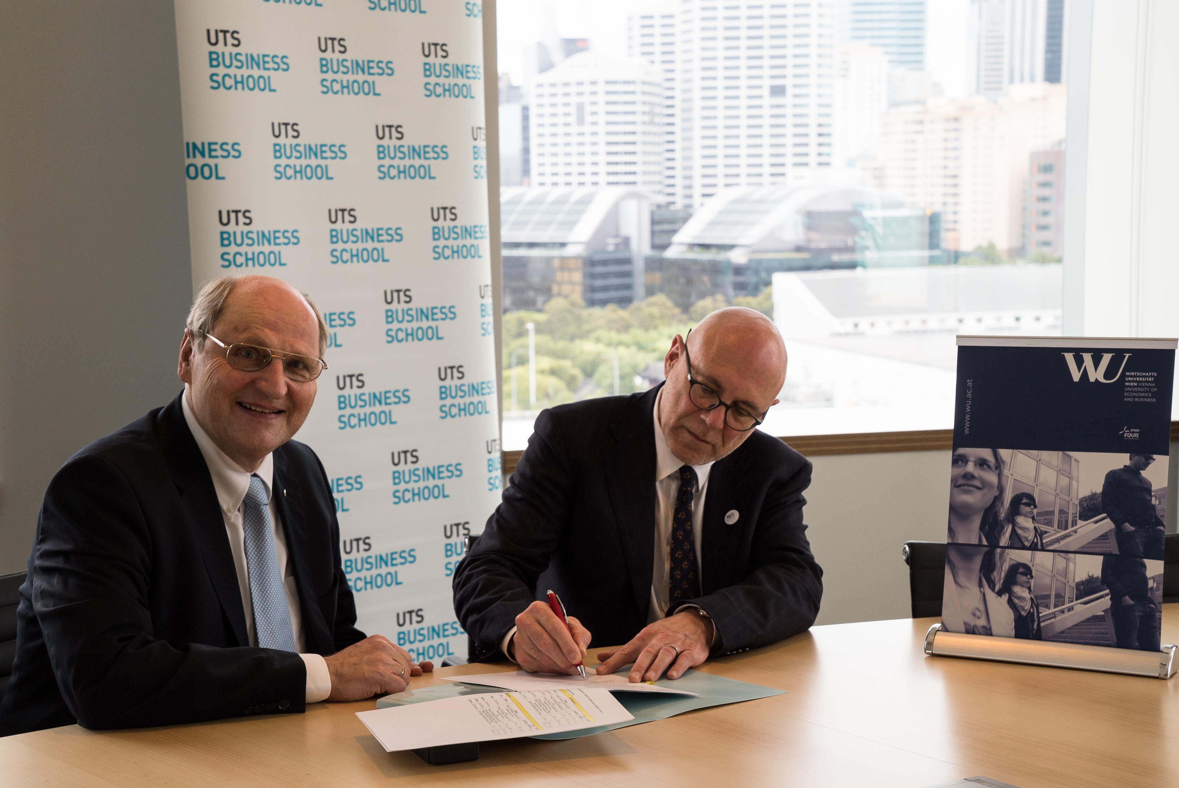 WU unterzeichnet Double Degree-Abkommen mit University of Technology ...