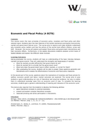 Economic and Fiscal Policy (english)