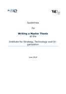 Guide Master's Thesis