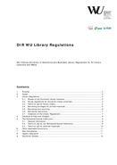 Library Regulations