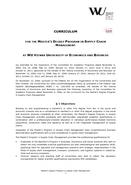 Wirtschaftsuniversität Wien: Structure & Content - Supply