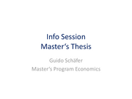 Info Session Master's Thesis, December 2019