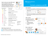 Skype for Business - Contacts & Chat