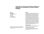 Towards an Interactive Privacy Pattern Catalogue