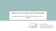 Overberg: Perspectives on external Quality Management – Finnish Quality Audits and their Perception as a Case Example
