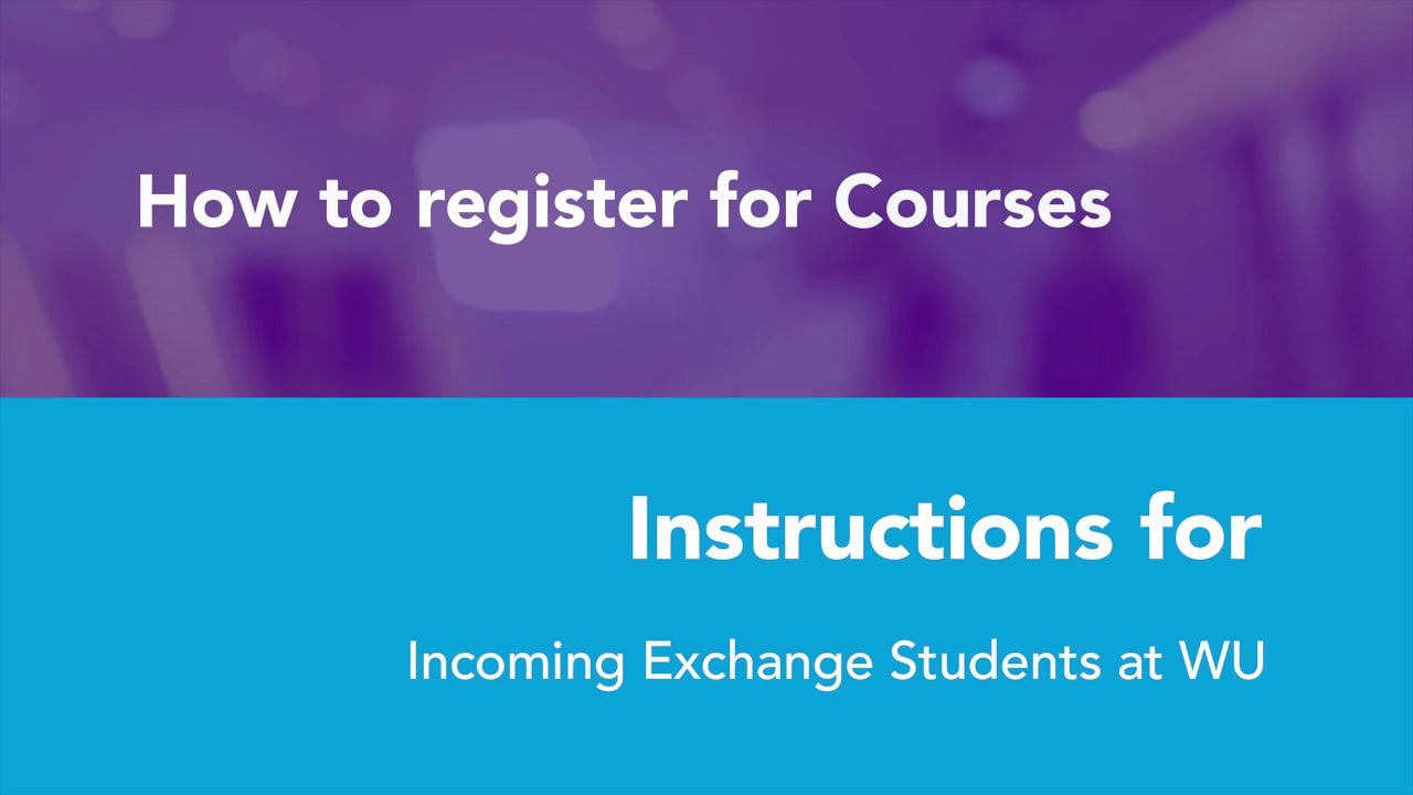 Video Course registration