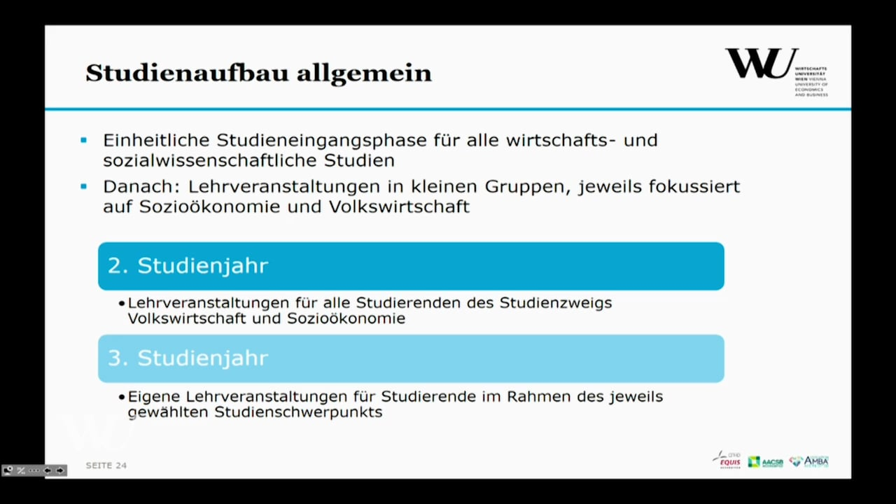 Video Der Studienzweig VW + SOZÖK