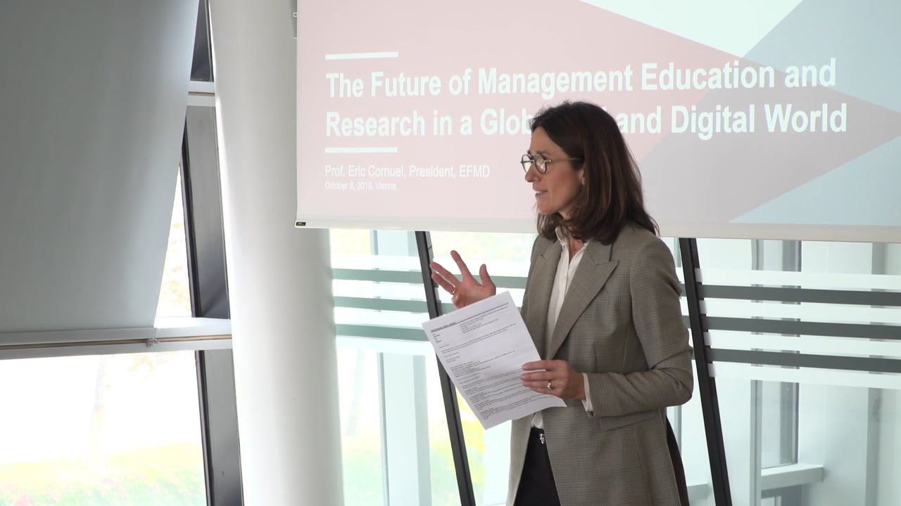 Video The Future of Management Education and Research in a Globalized and Digital World