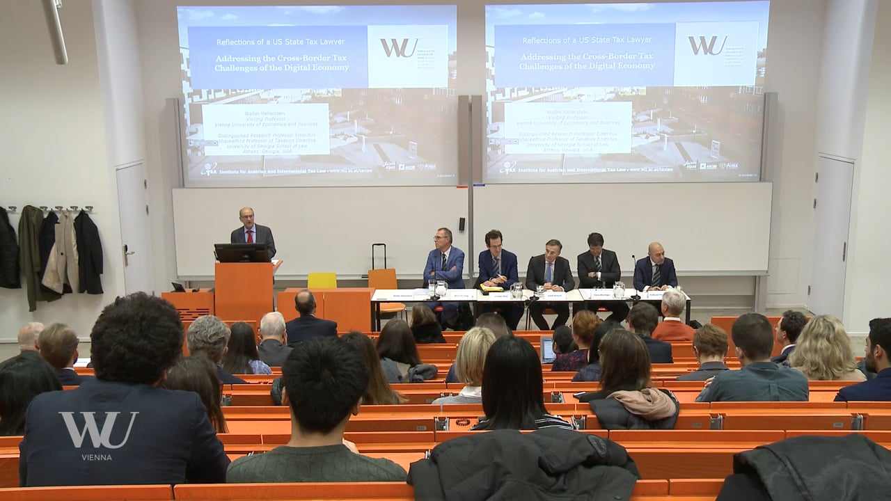 Video Inaugural Lecture: Prof. Walter Hellerstein Visiting Professor at WU