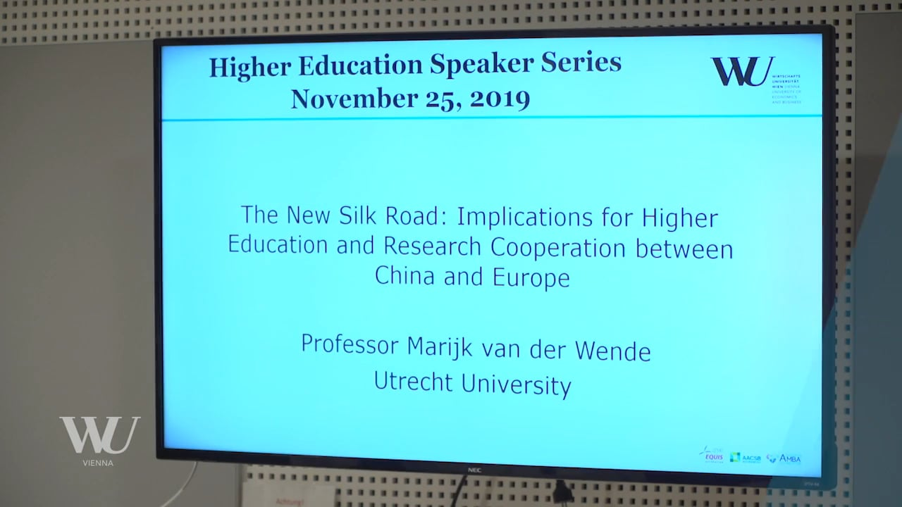 Video The New Silk Road: implications for higher education and research cooperation between China and Europe
