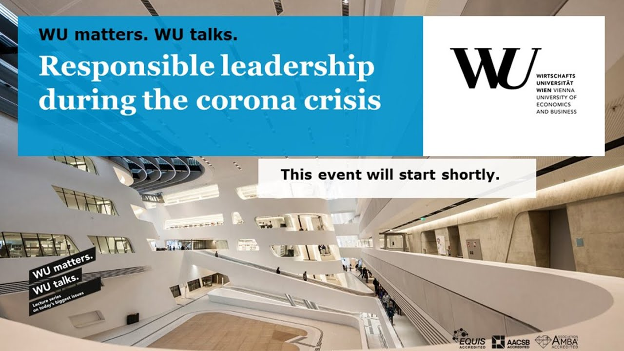 Video WU matters. WU talks. - Responsible leadership during the corona crisis
